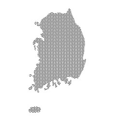 south korea map country abstract silhouette of vector image