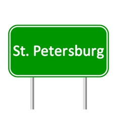 St Petersburg road sign vector image