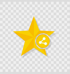 star icon share icon vector image