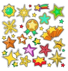 Stars Golden Decorative Elements for Stickers vector