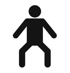 stick figure stickman icon pictogram simple vector image