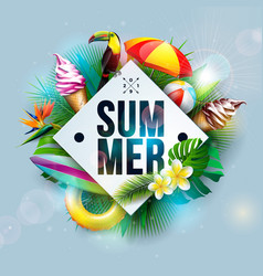 summer holiday with flower vector image