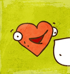 Talking Love Heart Cartoon vector image