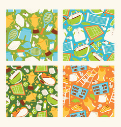 tennis seamless pattern playing tennis-ball vector image