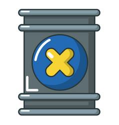Toxic waste barrel container icon cartoon style vector