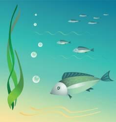 Undder the sea vector