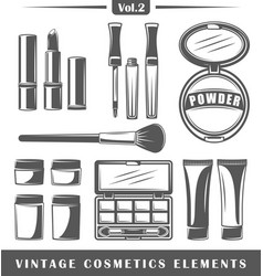 Vintage cosmetics elements vector