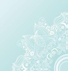 vintage invitation corners on blue background vector image