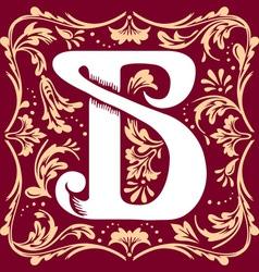 Vintage letter B vector