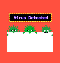 Virus in email and document with space vector