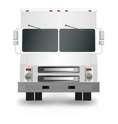 white truck cargo van eps 10 vector image
