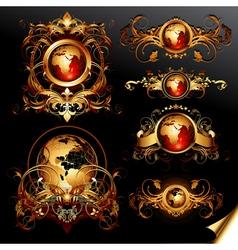 world frames set vector image vector image