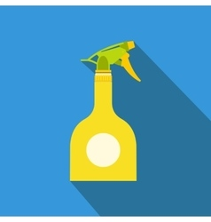 Yellow sprayer bottle vector