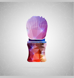 abstract creative concept icon of shaving vector image vector image