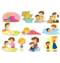 Children and activities vector image vector image