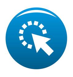 cursor pixel icon blue vector image vector image