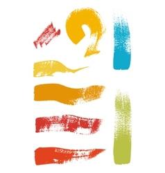 Grunge brush stroke set vector image