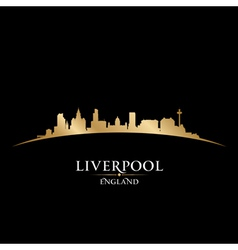 Liverpool England city skyline silhouette vector image