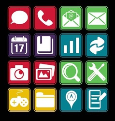 Mobile Phone Icon Basic Style vector image vector image
