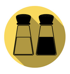 salt and pepper sign flat black icon with vector image
