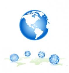set sphere vector image vector image