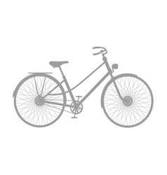 silhouette of vintage bicycle in grey design vector image vector image