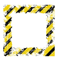 square frame with black shabby old yellow lines vector image