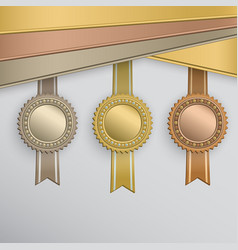 award badges vector image