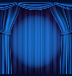 blue theater curtain theater opera or vector image