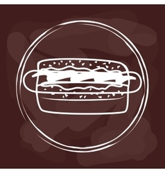 Fast food icons design vector image vector image