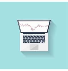 Online trading Forex Flat style Investing in vector image