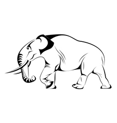Silhouette of Elephant in vector image vector image