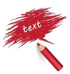 pencil writes text vector image