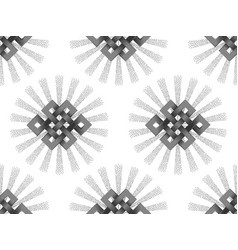 Seamless pattern of silver endless knot vector