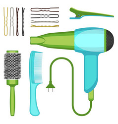 Set of hairdressing tools vector