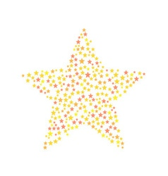 Star symbol consists of small stars vector image vector image