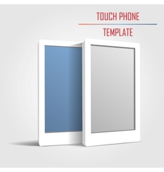 touch phone template vector image vector image
