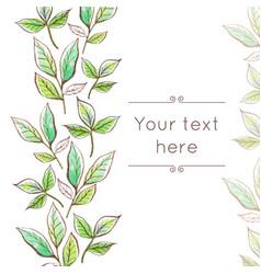 watercolor floral border vector image