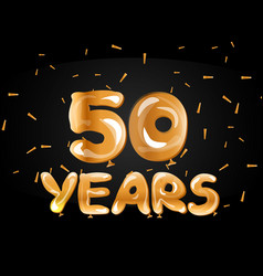 50th anniversary gold greeting card vector image
