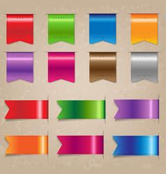 big colorful ribbon set vector image