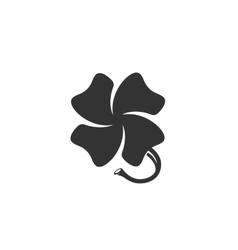 Clover icon isolated on a white background vector image