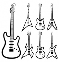 guitar set vector image vector image