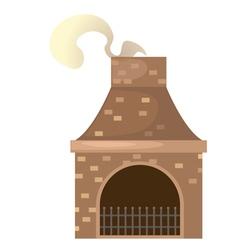 house brick chimney vector image vector image