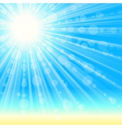 summertime beach background vector image