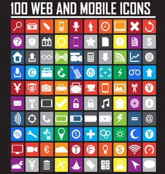 Website icons collection vector image vector image