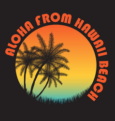 80s style vintage hawaii typography retro t-shirt vector image
