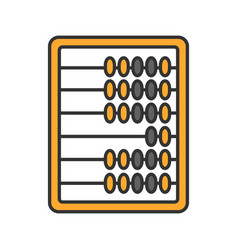 Abacus color icon vector