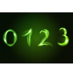 Abstract 0123 green vector