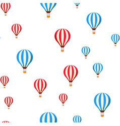 air balloons flying cartoon seamless vector image
