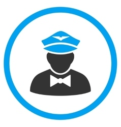 Airline Steward Rounded Icon vector